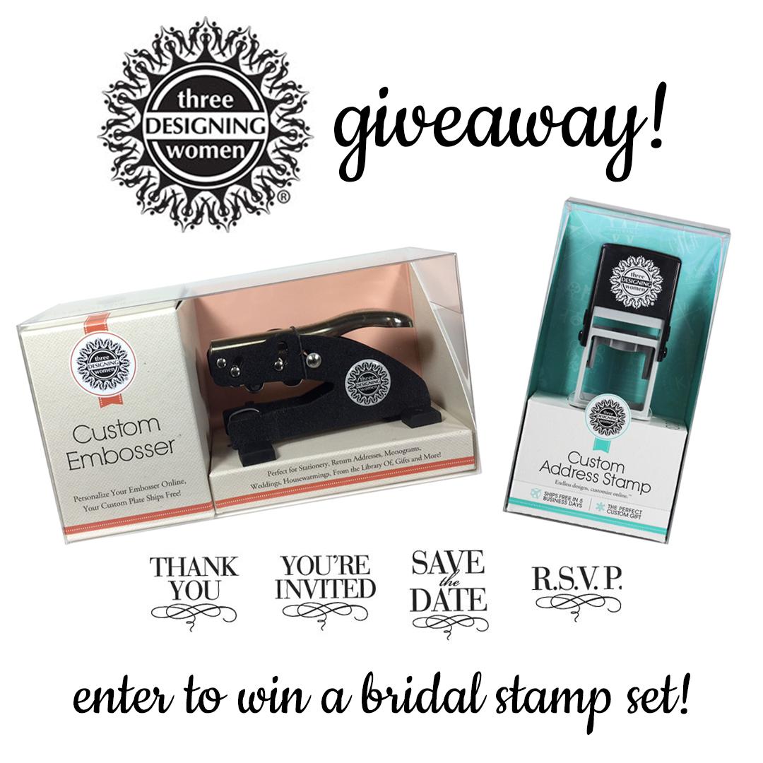 three designing women stamp set giveaway