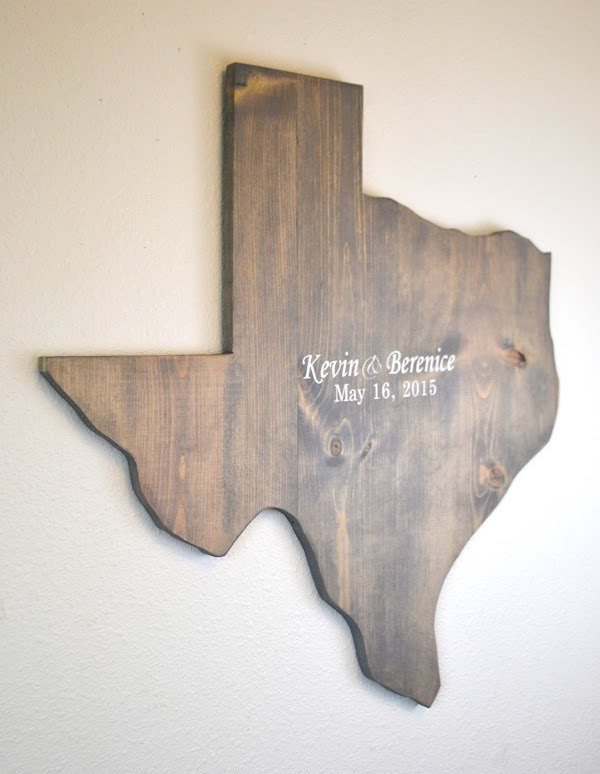 wooden state guest book