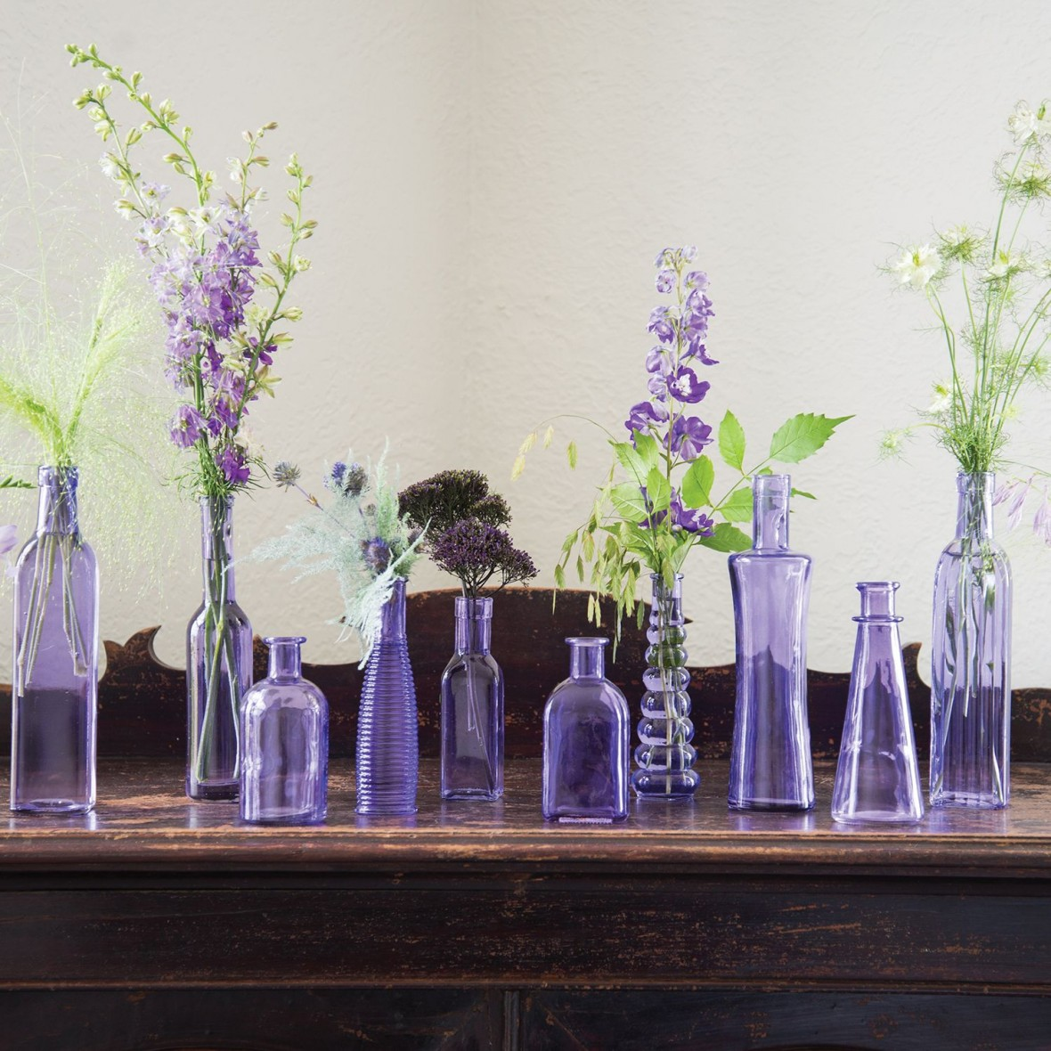 vintage bottle glass centerpieces