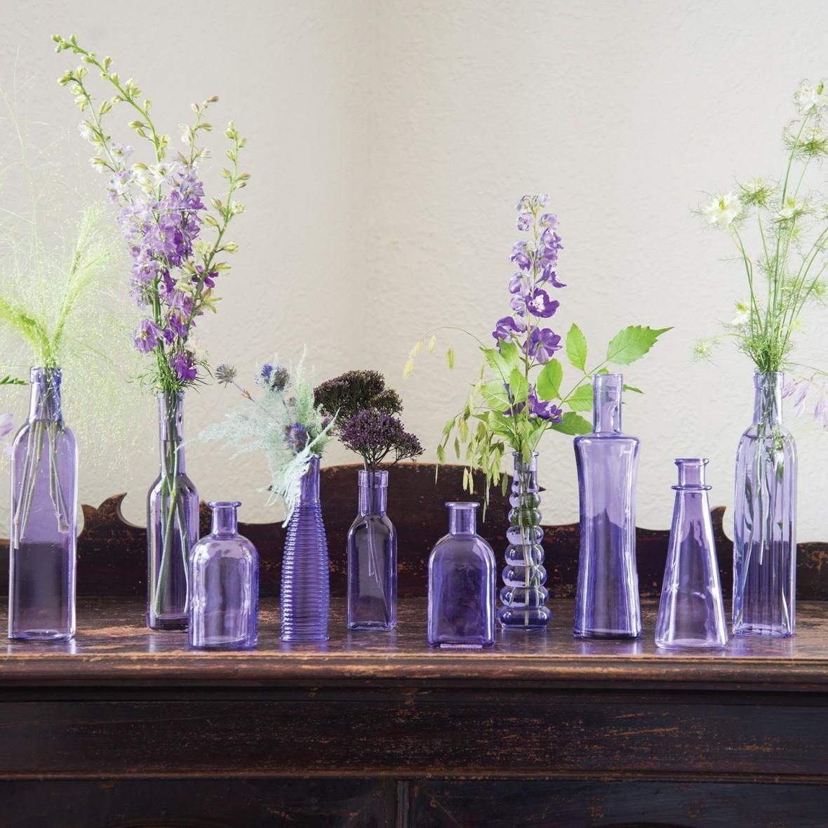 vintage bottle glass centerpieces