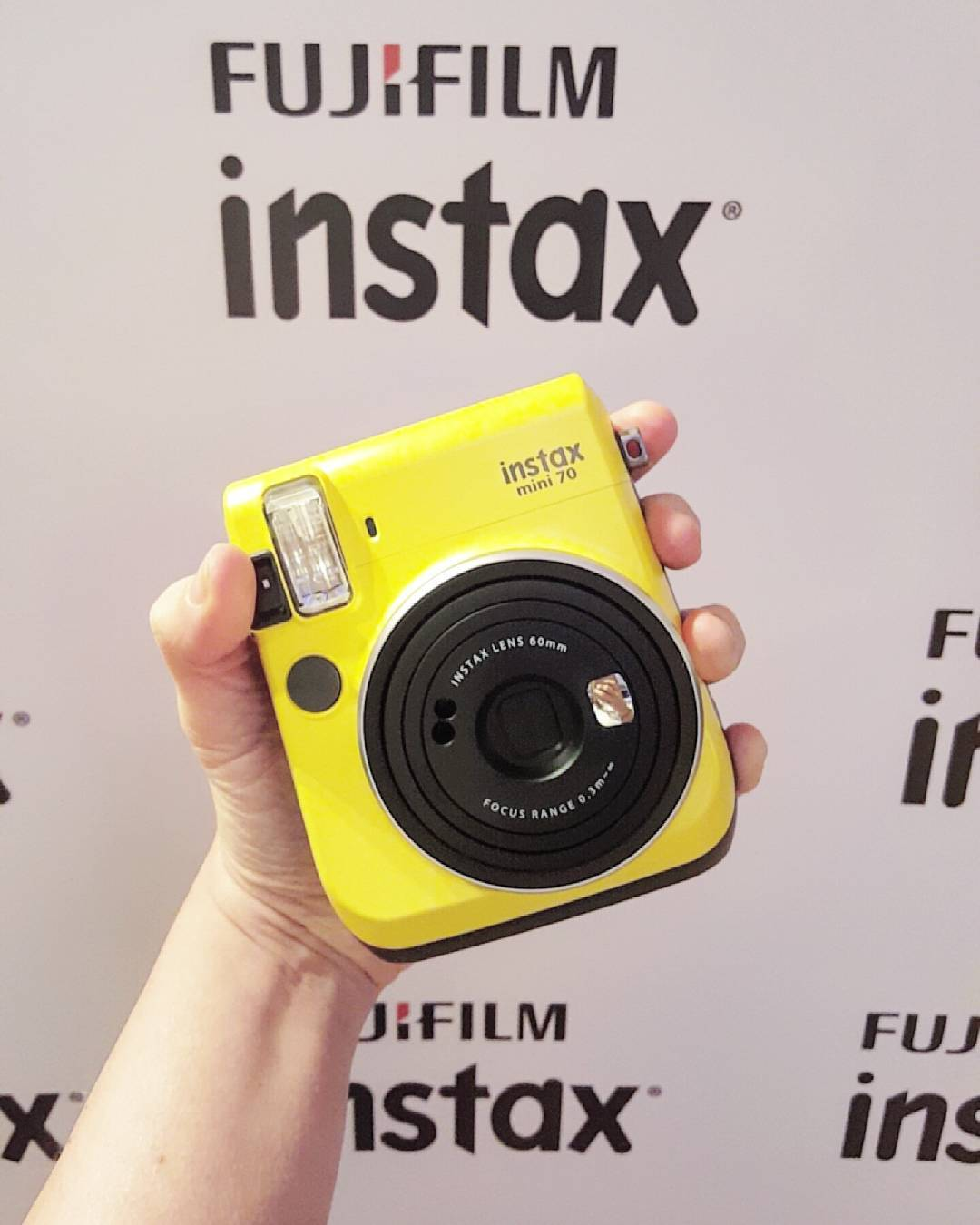 instax mini 70 instant film camera - yellow