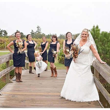 bridge wedding photos
