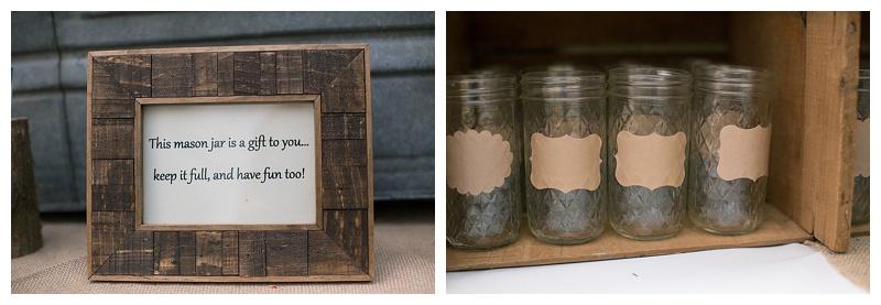 ball jar wedding glasses