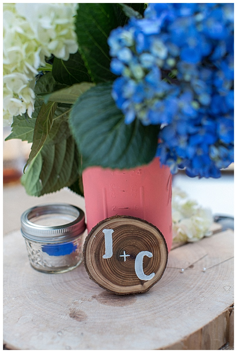 painted ball jar wedding decor