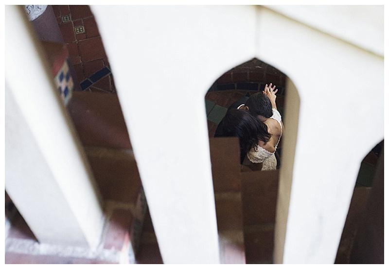 stair rung wedding photos