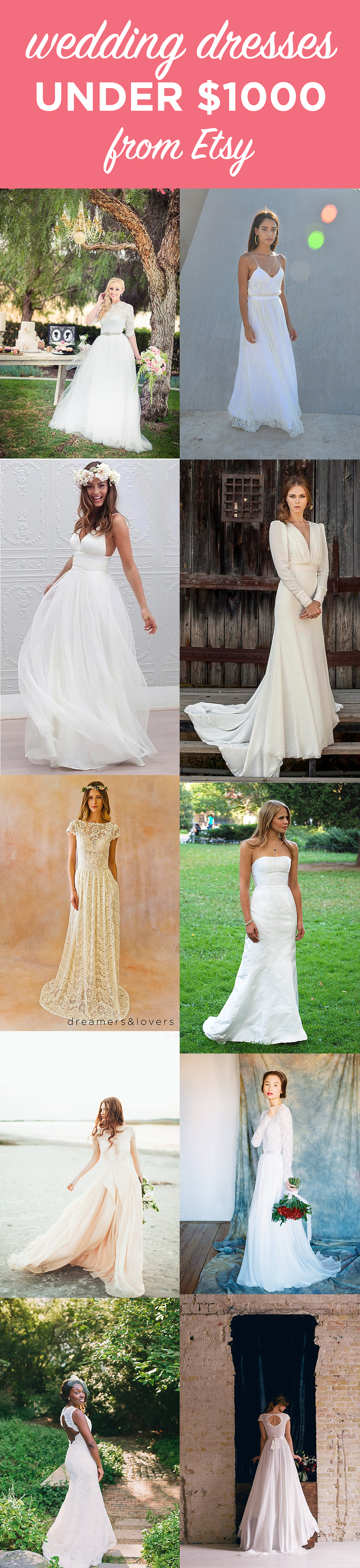 10 Gorgeous Wedding Gowns under $1000 from Etsy   The Budget Savvy Bride