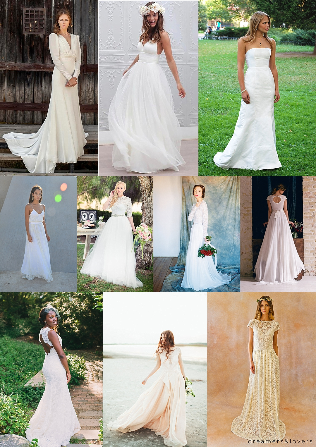 10 gorgeous wedding gowns under $1000 from etsy | the budget savvy
