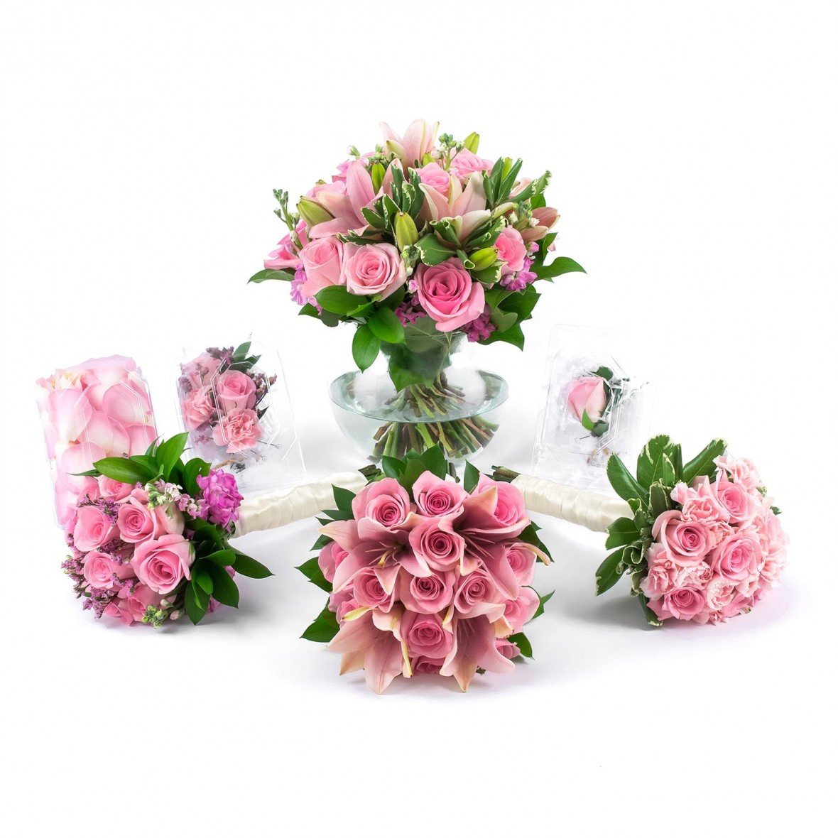 pink passion wedding flower collection