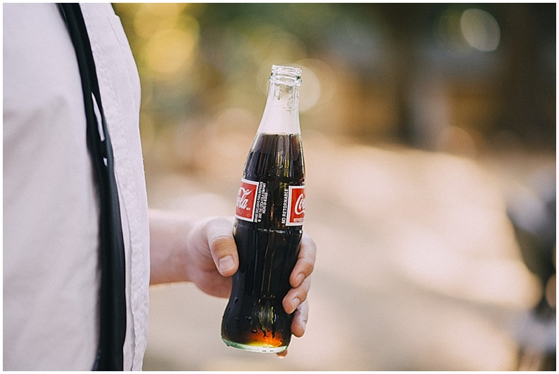 glass bottle coke wedding