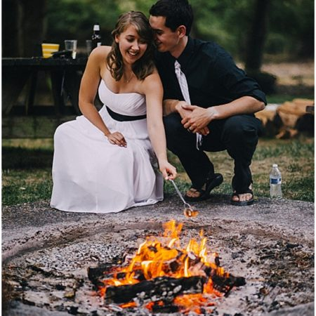 wedding smores fire pit