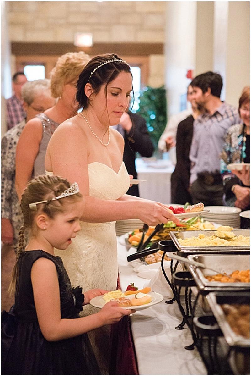 buffet wedding reception