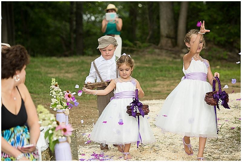 ring bearer and flower girls