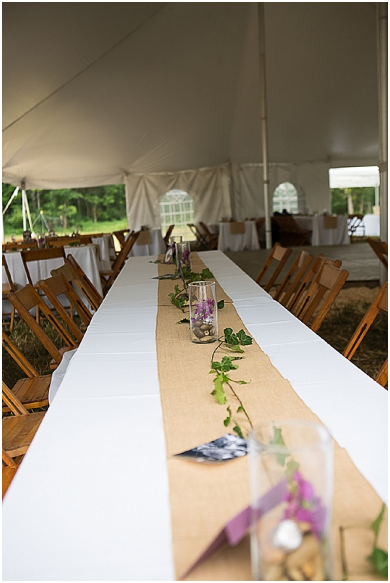 kraft paper wedding reception decor
