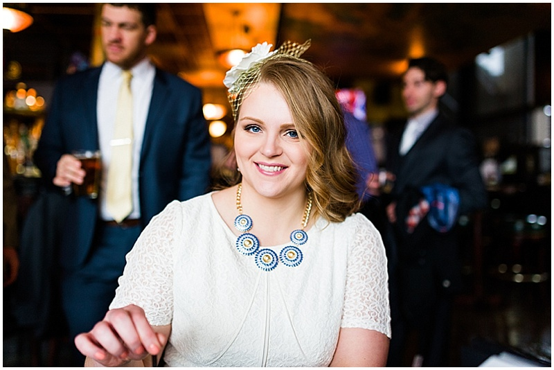 bride at cocktail hour