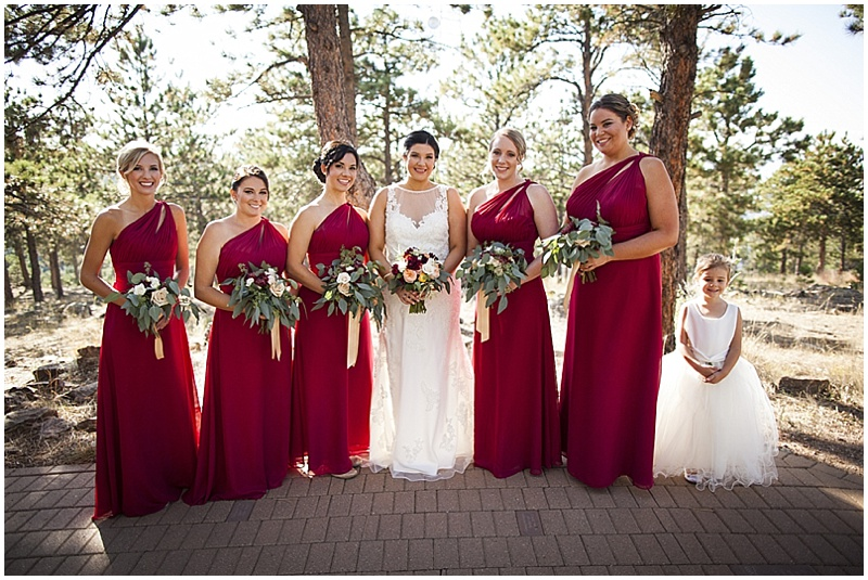 Wedding Bouquet Red Bridesmaid Dresses