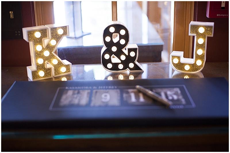 Monogram wedding decor