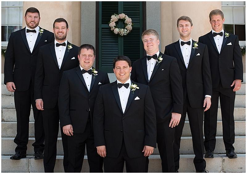black tux groom attire