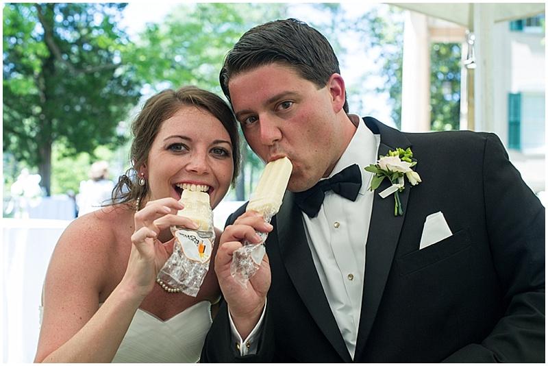 popsicle wedding dessert reception