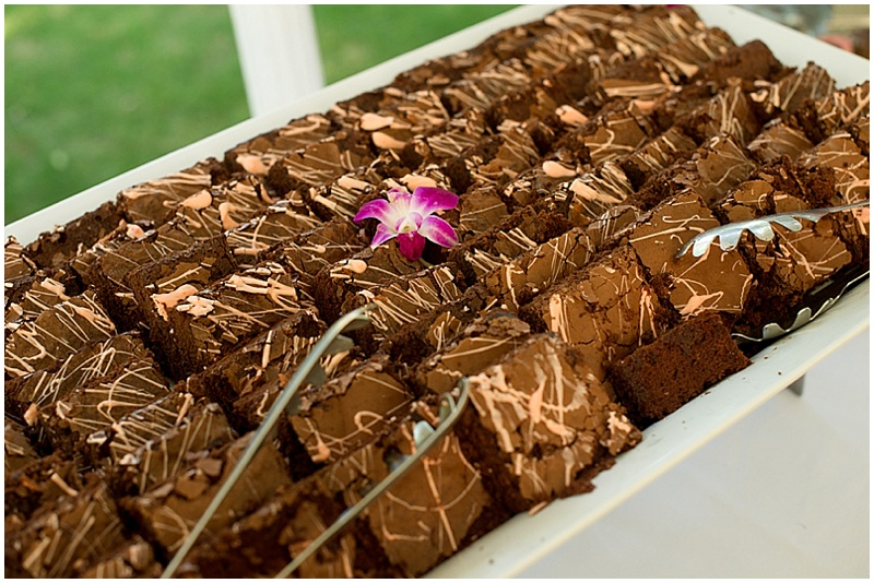dessert wedding reception