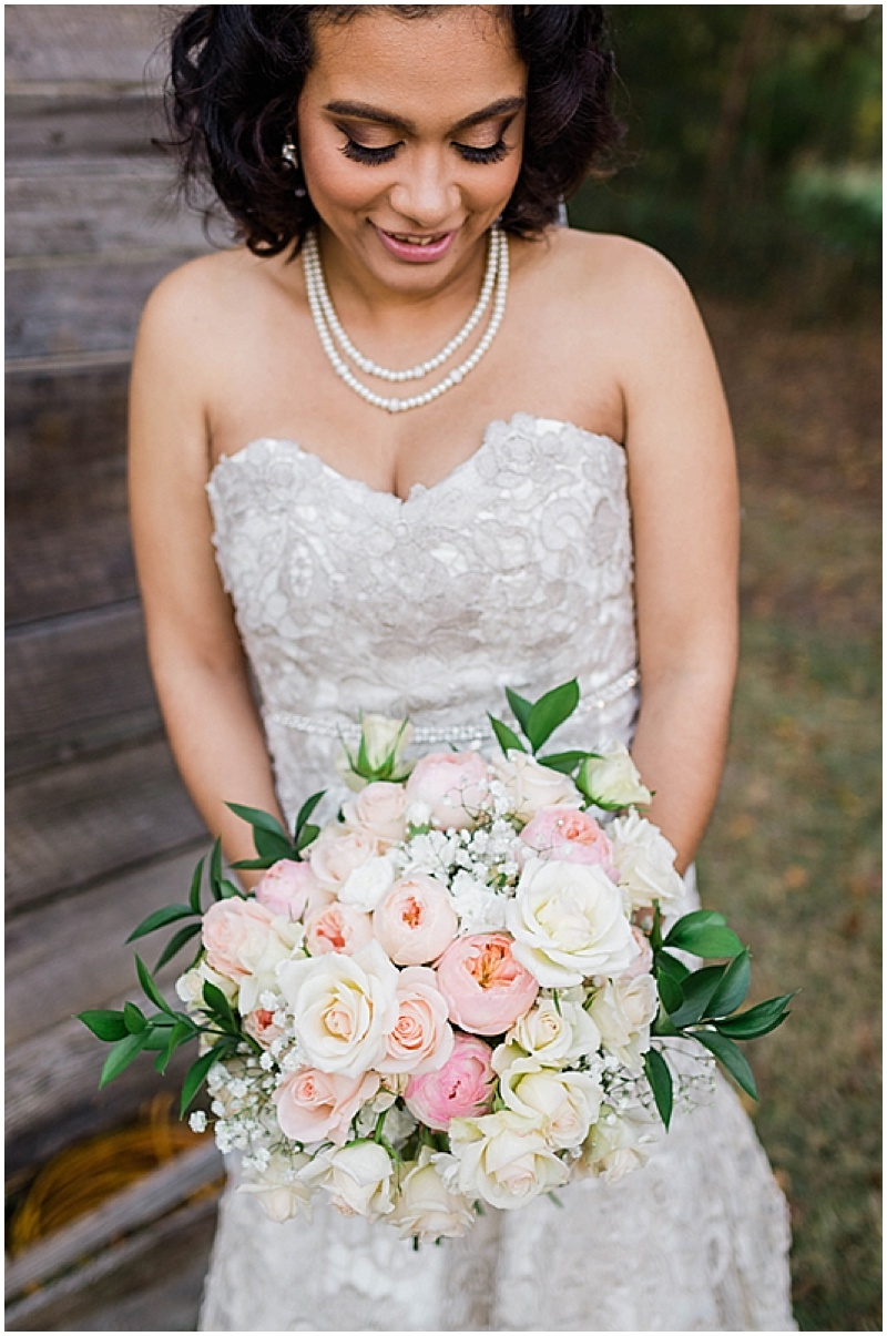white and pink wedding dress