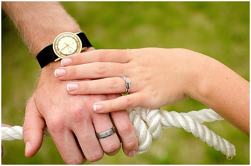 tying the not wedding photo