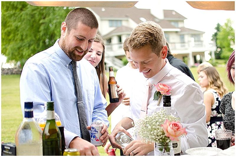 homemade wedding bar