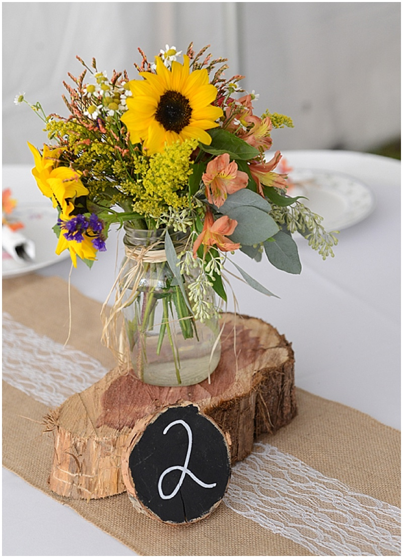 North Carolina Wedding With Sunflower Details The Budget