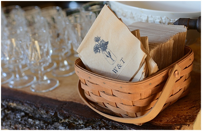 self serve wedding bar