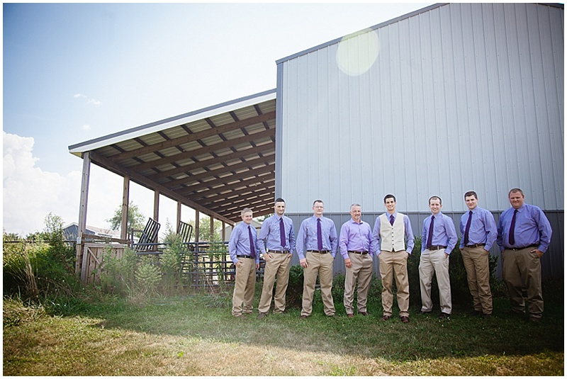 purple groomsmen attire