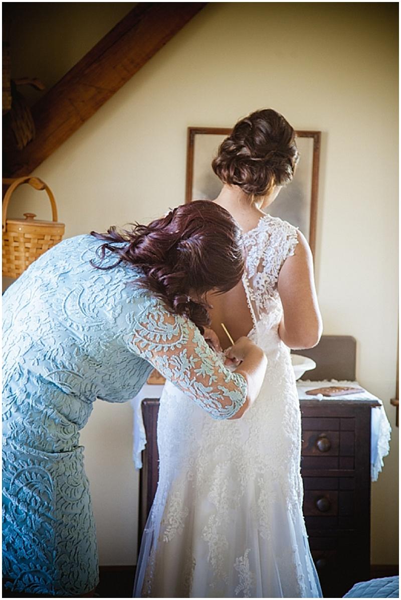 button-up wedding dress