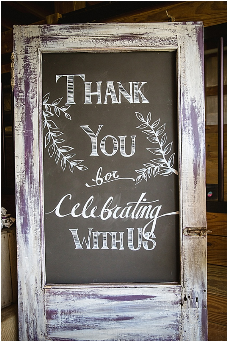 wedding chalkboard signage