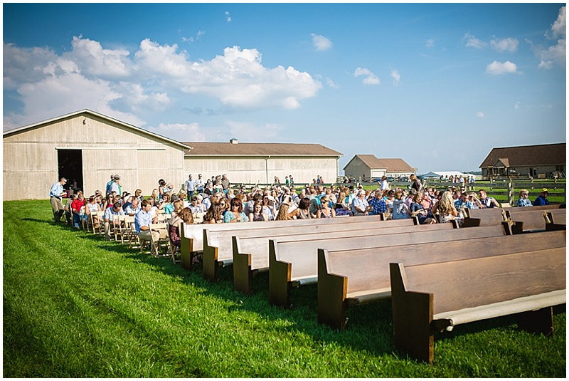 pew outdoor wedding seats
