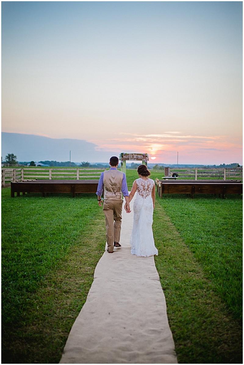 sunset farm wedding photos
