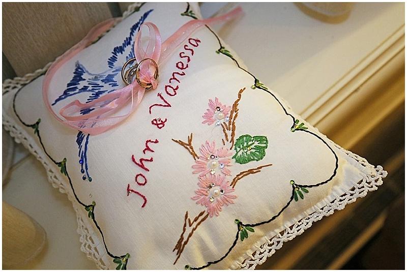 handmade flower pillow
