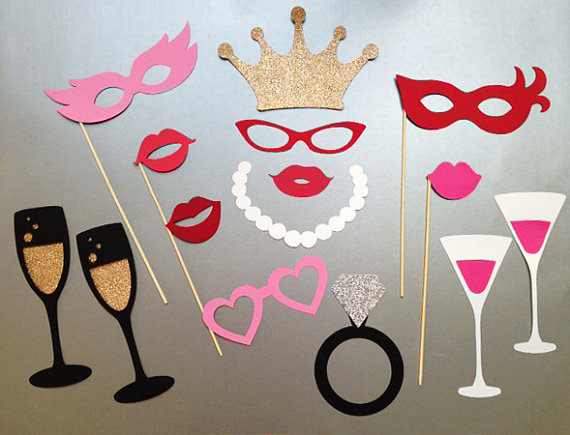 bachelorette party photo booth props