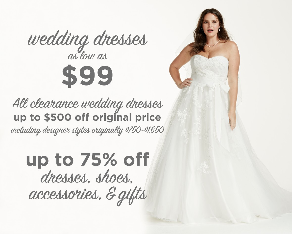 Tips for shopping a major bridal sale the budget savvy bride for David s bridal clearance wedding dresses