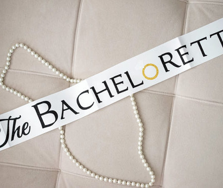 the bachelorette sash