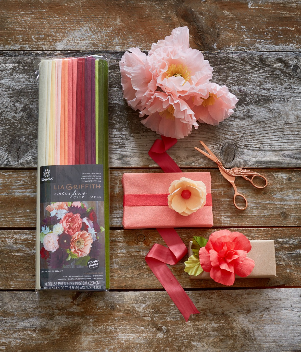 Lia Griffith - Crepe Paper Flowers | Crepe Paper Product Line
