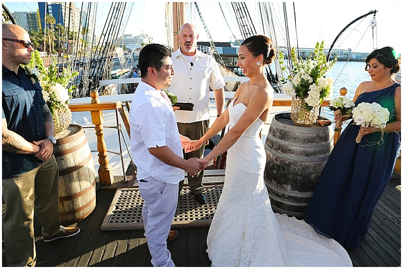 sailboat wedding ceremony