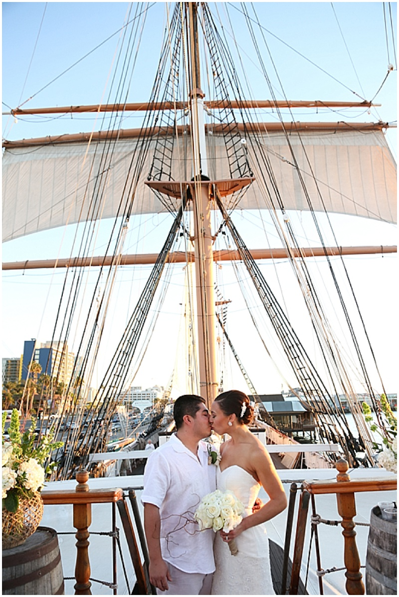 sailboat wedding photos
