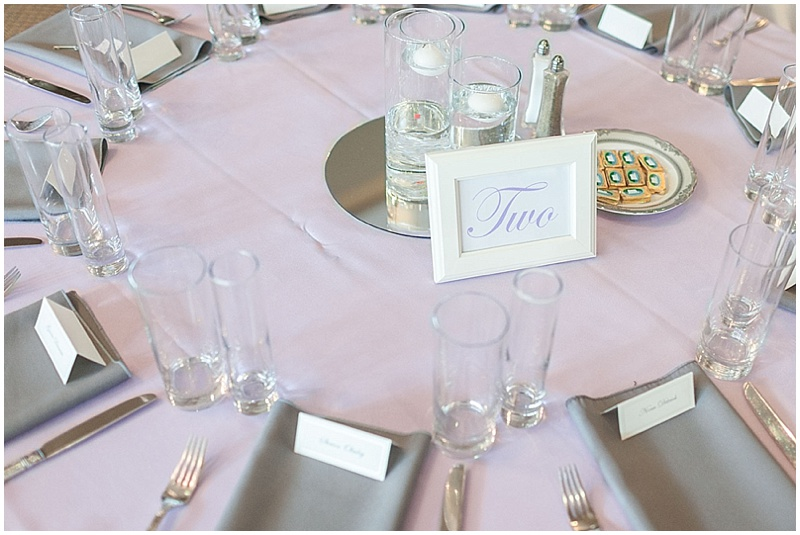 lavender and gray table decor