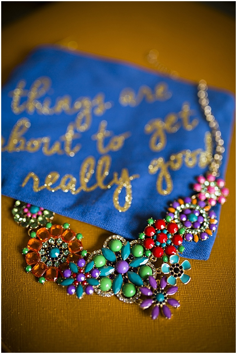 colorful wedding jewelry