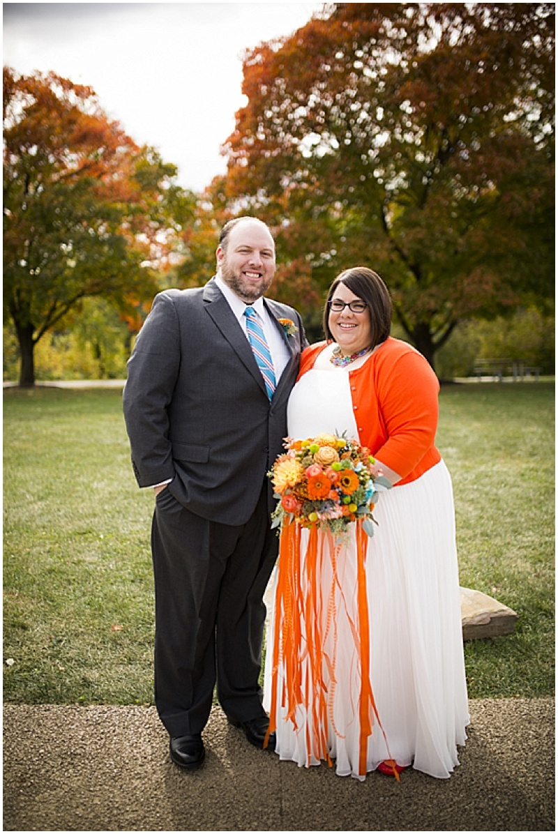 Colorful october wedding the budget savvy bride first look junglespirit Images