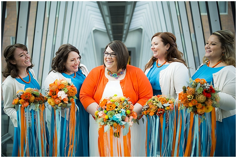 Colorful october wedding the budget savvy bride teal and orange wedding attire junglespirit
