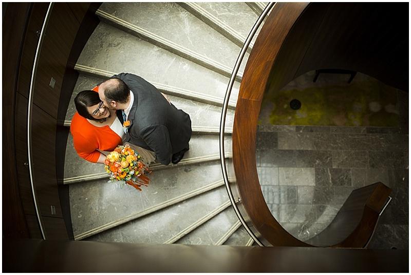 stair wedding photos