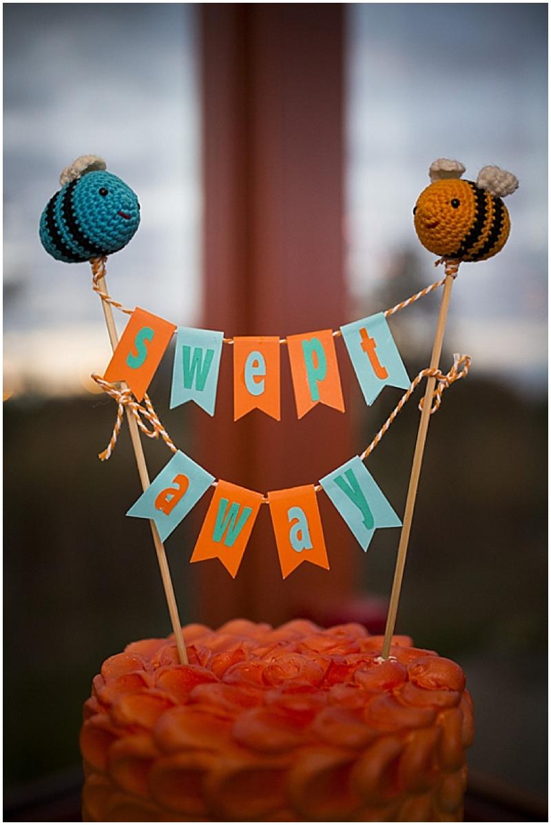 bumble bee wedding cake topper