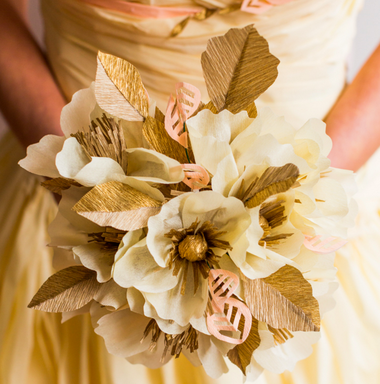 Crepe Wedding Bouquet (to match dress)