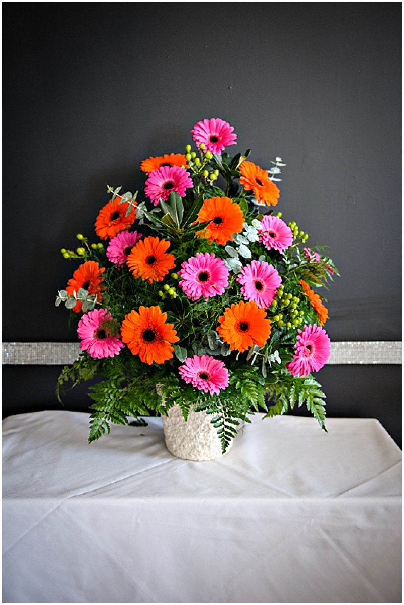 pink and orange wedding flowers