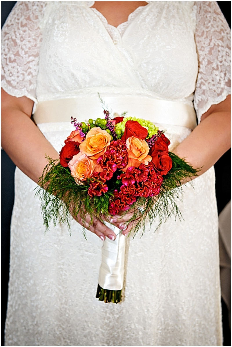 orange and red wedding photos.