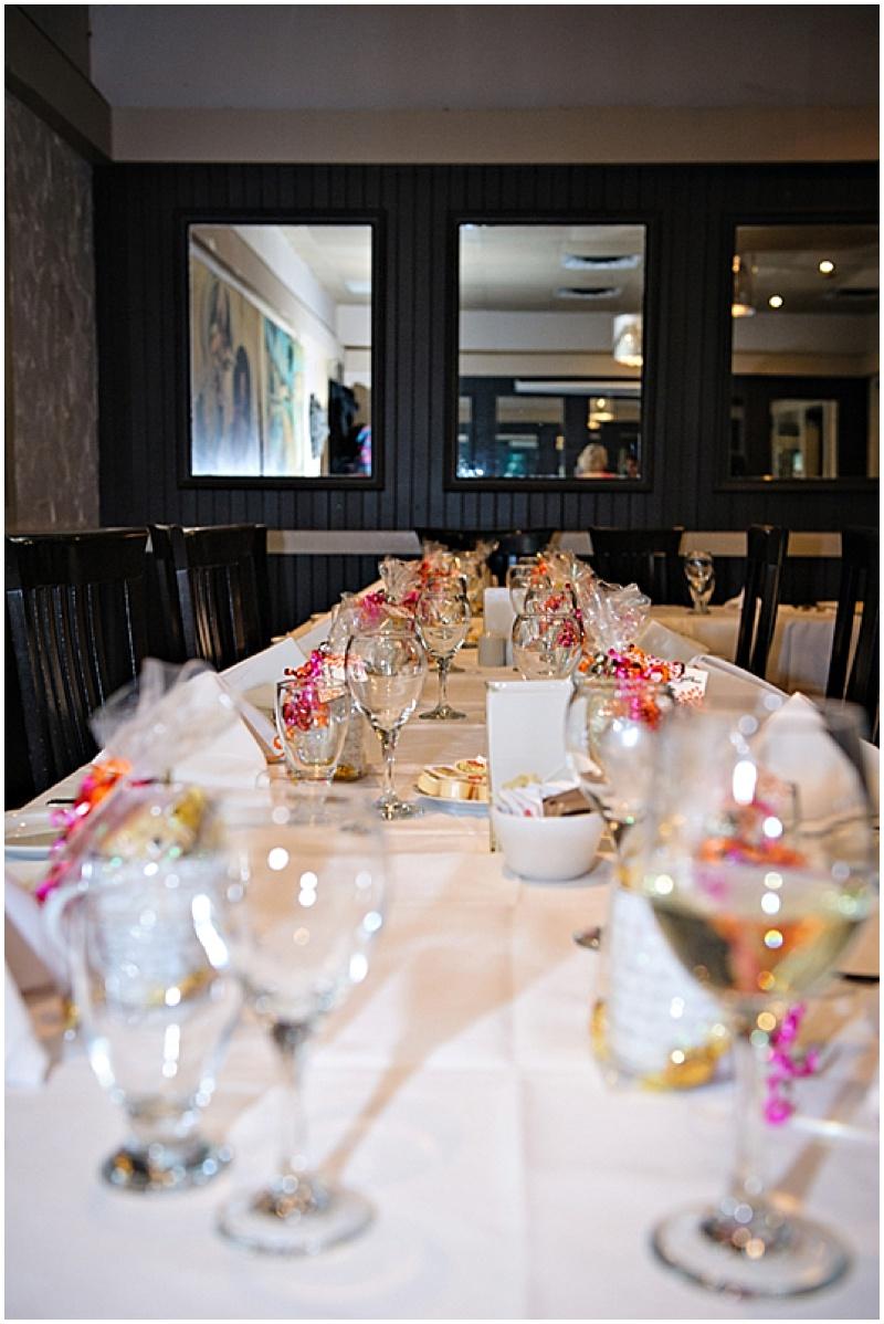 restaurant wedding reception